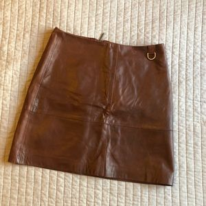 Kenneth Cole Leather Skirt